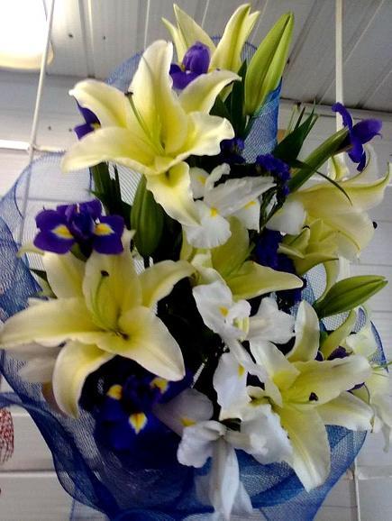 фото букеты из лилий