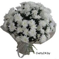 """Букет из белой хризантемы - """"Белоснежка"""""""