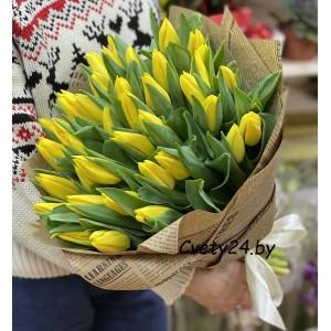 """Букет из желтых тюльпанов """"Нежный трепет"""""""