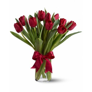 """Букет из 15 алых тюльпанов - """"Признание"""""""