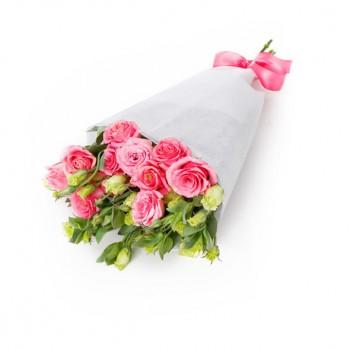 """Букет из роз и эустом - """"Юнона"""""""