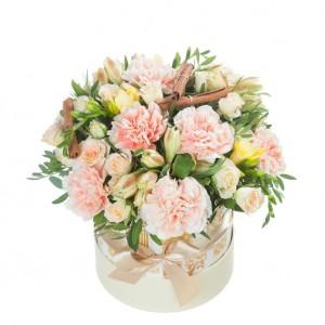 """Цветы в коробке цилиндр """"Мираж"""""""
