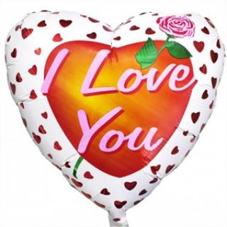 Шар Роза любви